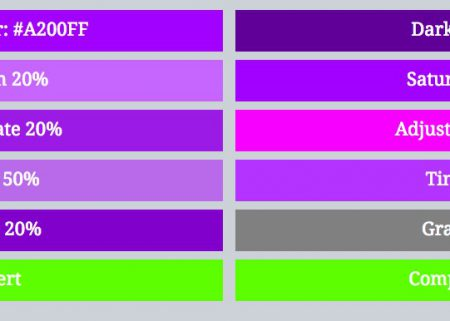 Sass HSL Colour Function Examples