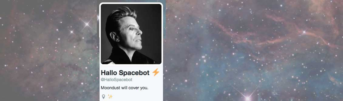 Screencap of Hallo Spacebot's twitter header