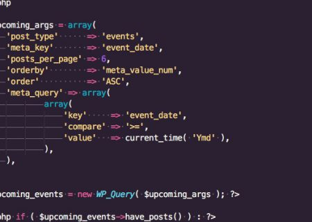 Code editor displaying arguments for custom query