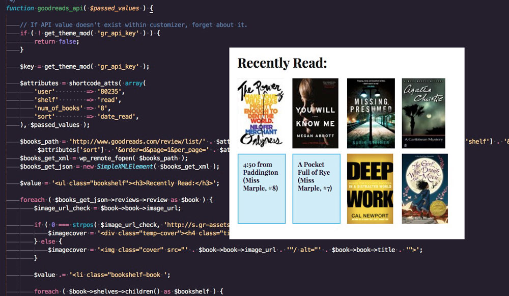 Shortcode Creation Using The Goodreads API