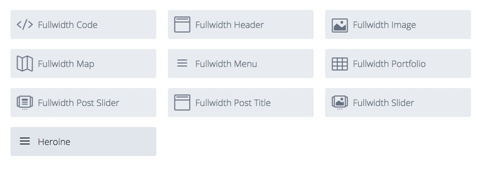 Heroine custom module option showing within full-width section options